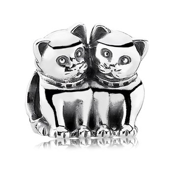 PANDORA Purrfect Together Cat Charm-342907