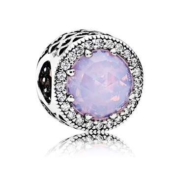 PANDORA Radiant Hearts with Opalescent Pink Crystal & Clear CZ