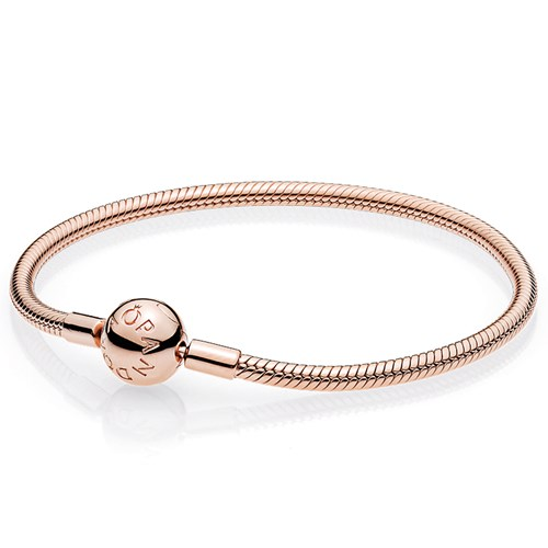 pandora rose gold smooth clasp bracelet. Black Bedroom Furniture Sets. Home Design Ideas