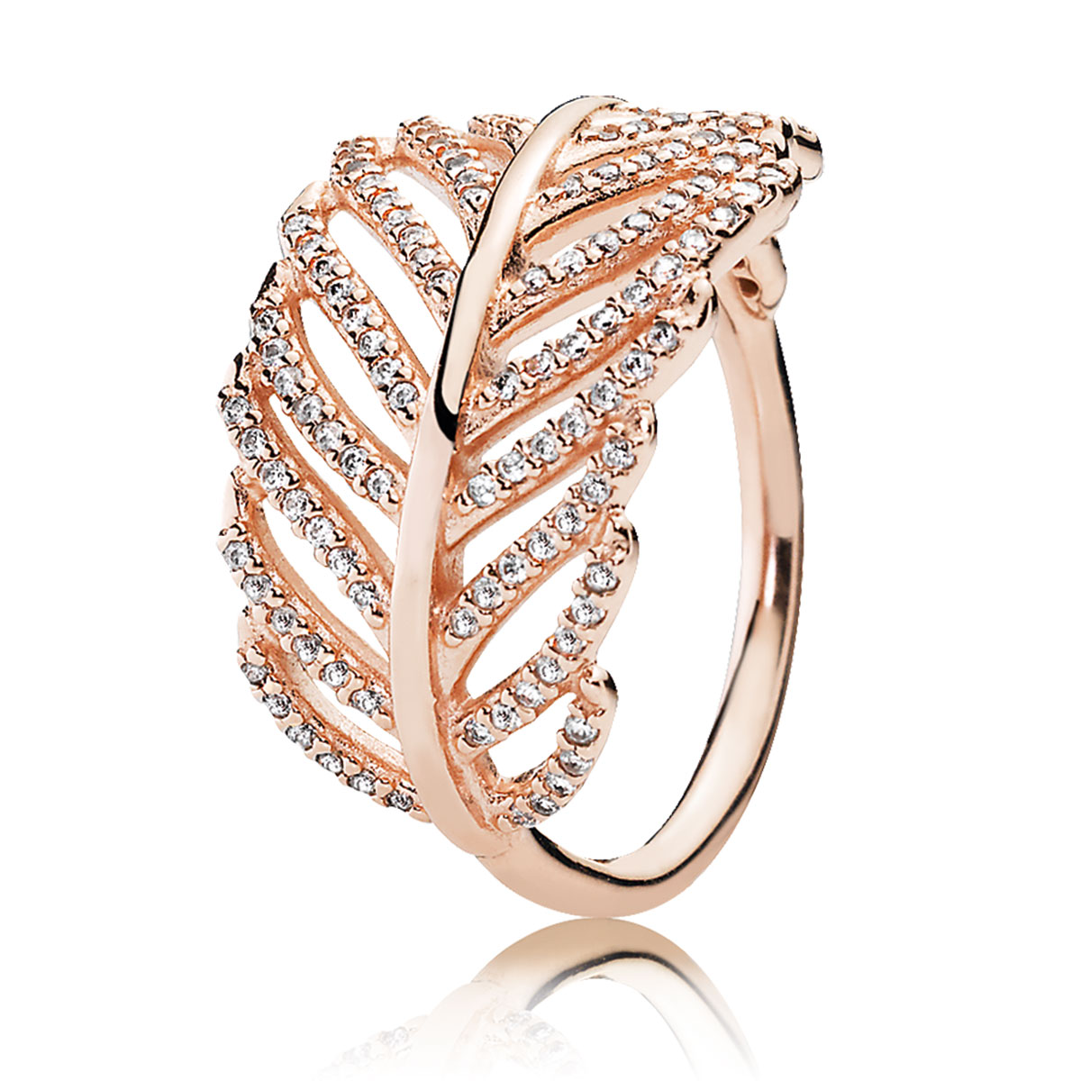 pandora rose light as a feather ring pancharmbraceletscom - Pandora Wedding Rings