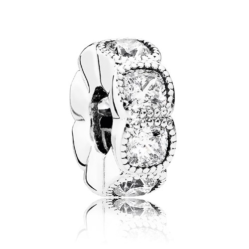 PANDORA Alluring Cushion with Clear CZ Spacer