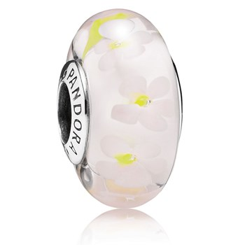 PANDORA Field of Daisies Murano Glass RETIRED