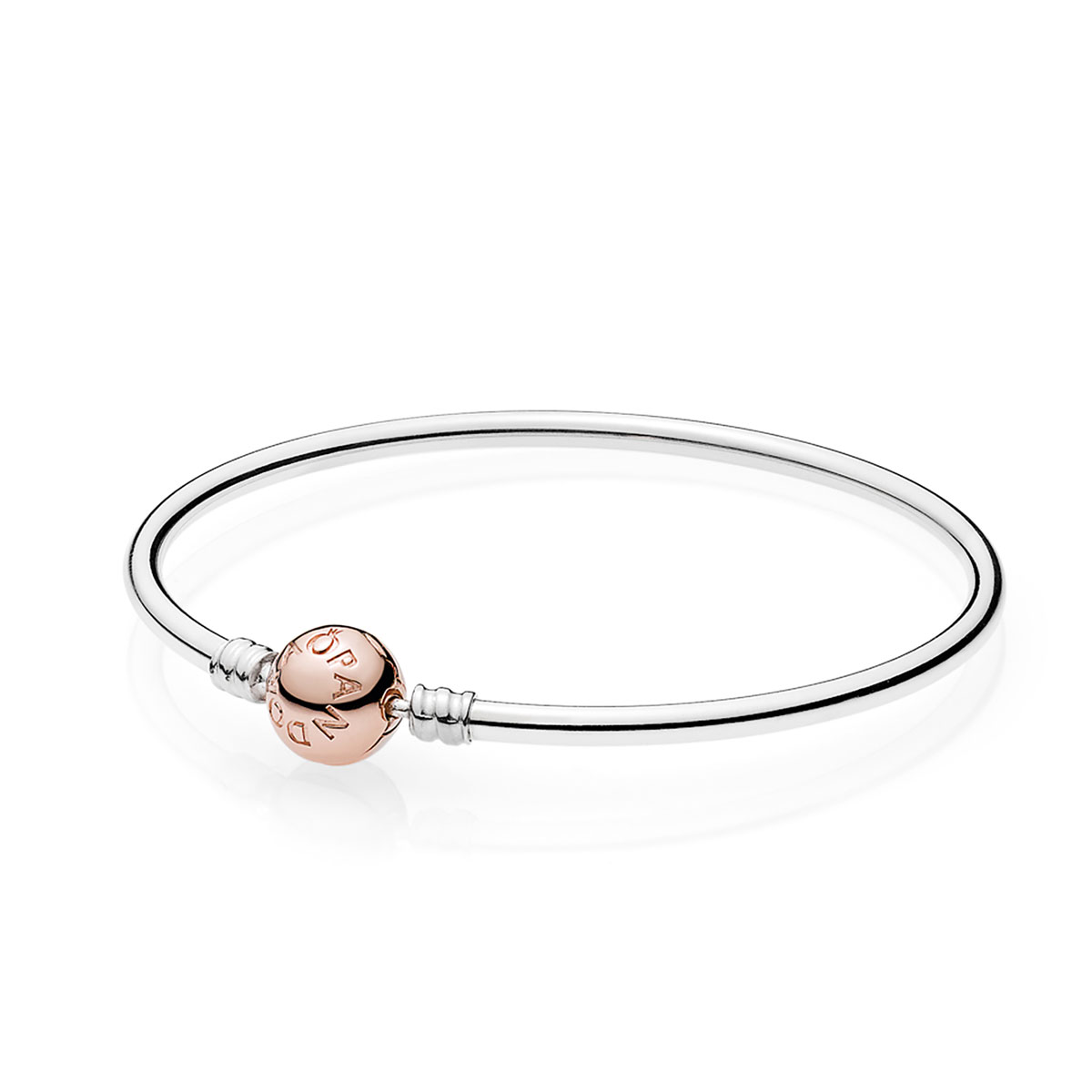 PANDORA Sterling Silver Rose™ Clasp Bangle