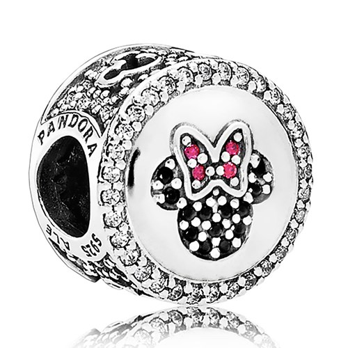 PANDORA Disney, Mickey & Minnie Sparkling Icons Charm