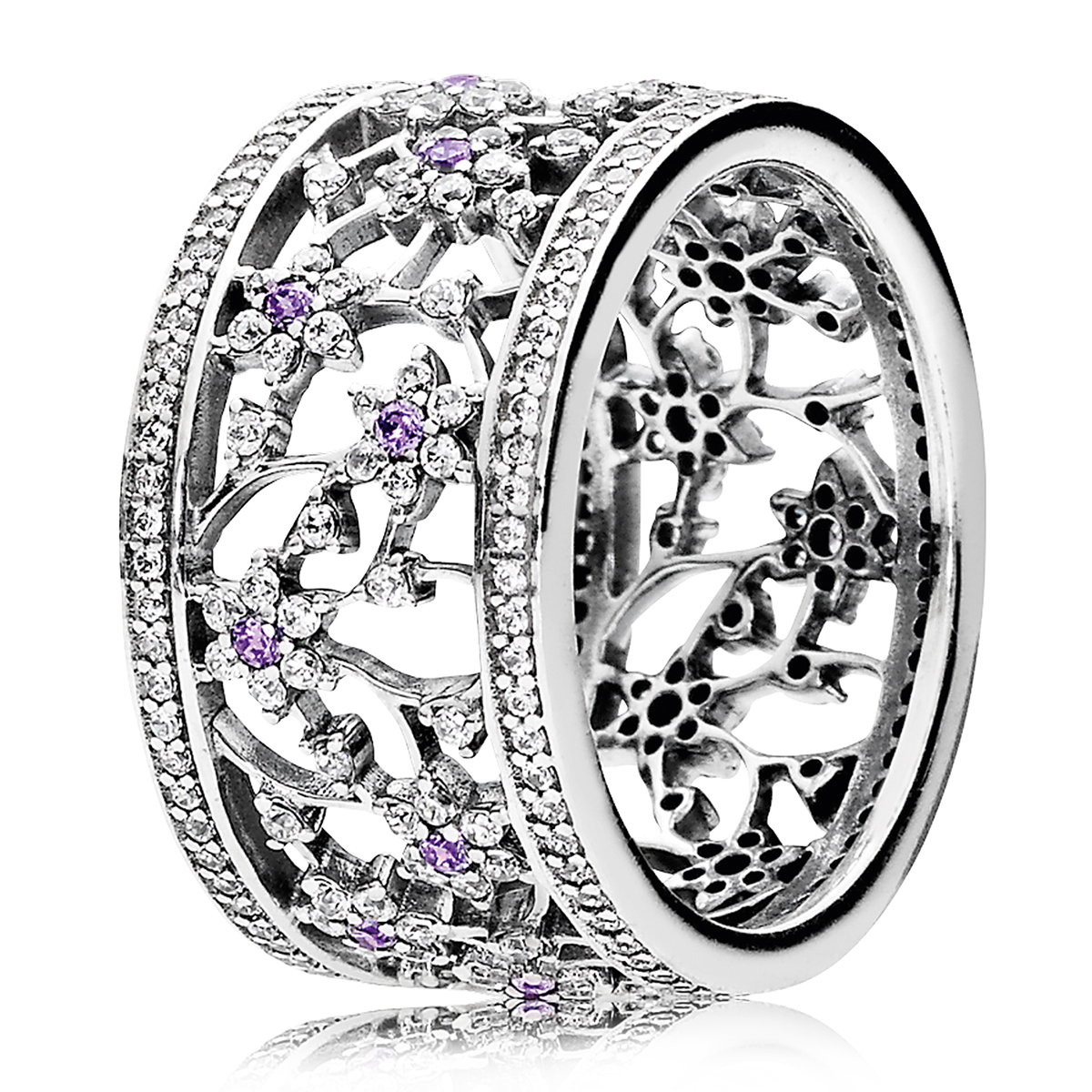PANDORA Forget Me Not Wide Ring
