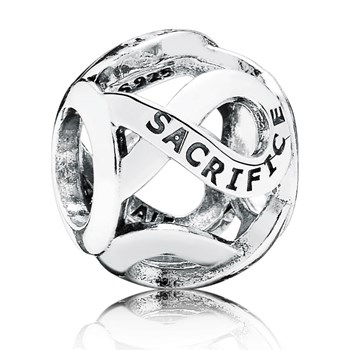 346384-PANDORA Sacrifice Openwork Charm RETIRED LIMITED QUANTITIES!