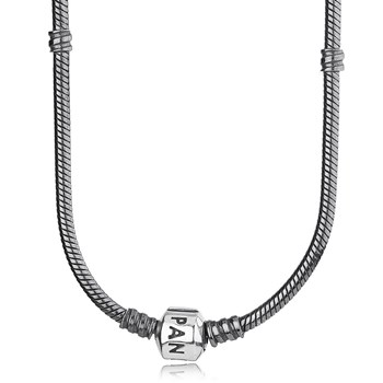 -PANDORA Oxidized Sterling Silver with PANDORA Clasp Necklace RETIRED ONLY 2 LEFT!