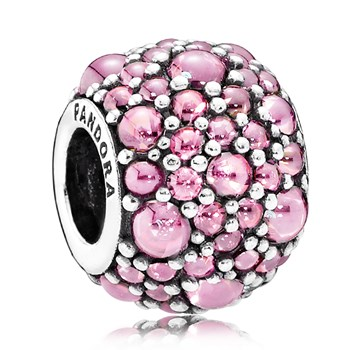 PANDORA Shimmering Droplets with Pink CZ Charm