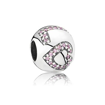 PANDORA Surrounded By Love with Pink CZ Charm-345477