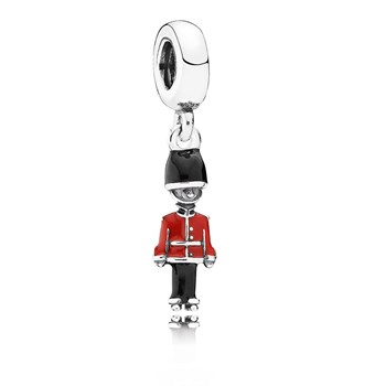 PANDORA Guard My Heart with Black and Red Enamel Dangle 802-2870