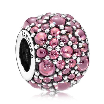 PANDORA Shimmering Droplets with Honeysuckle Pink CZ Charm