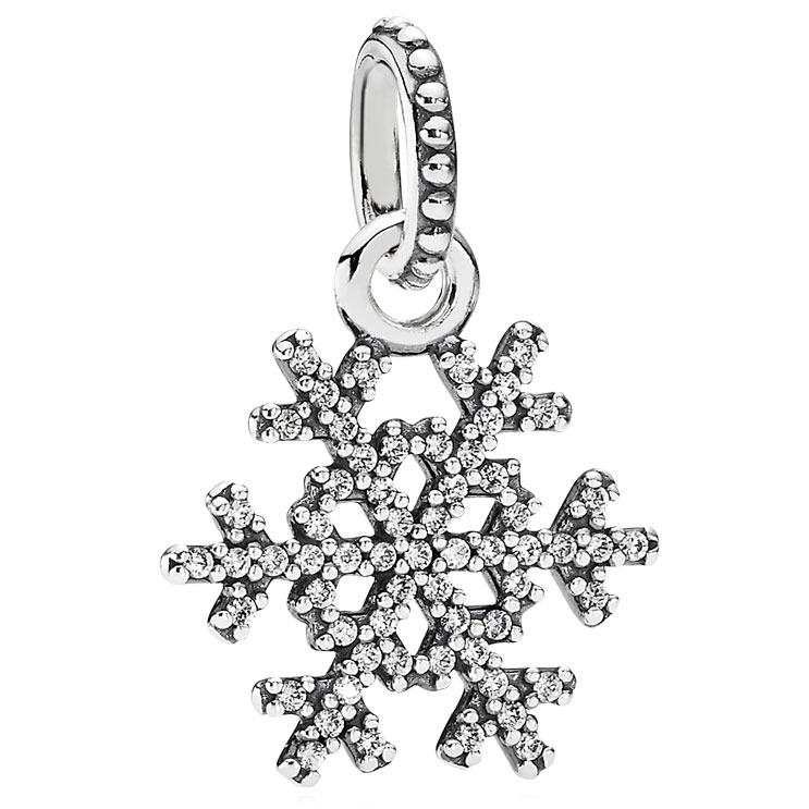 02c5f2410 ... Feathers Stud Earrings PANDORA Winter Kiss Snowflake with Clear CZ  Pendant ...