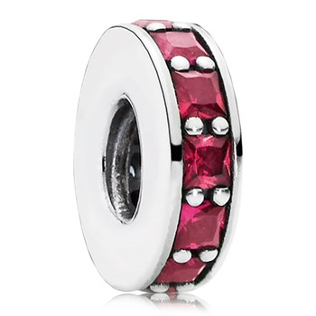 802-3125-PANDORA Eternity with Synthetic Ruby Spacer