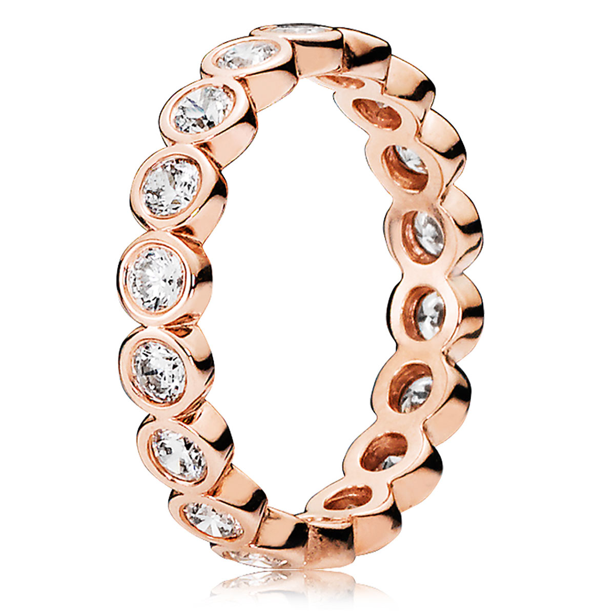 PANDORA Rose™ Alluring Brilliant with Clear CZ Ring