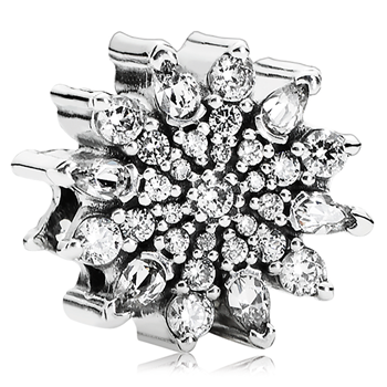 PANDORA Ice Crystal with Clear CZ Charm-802-3129