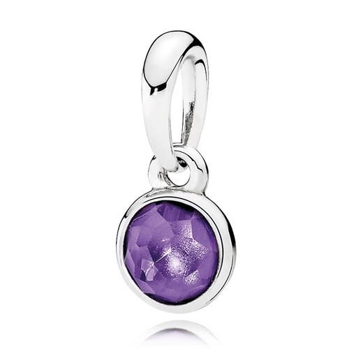 Pandora february droplet synthetic amethyst pendant pandora february droplet synthetic amethyst pendant mozeypictures Images