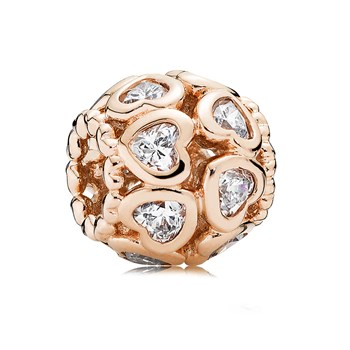 PANDORA Rose™ Love All Around with Clear CZ Charm RETIRED 802-2969