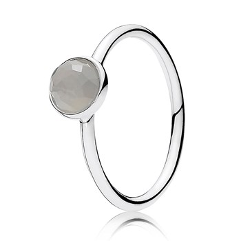 PANDORA June Droplet with Grey Moonstone Ring