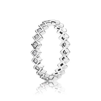 PANDORA Alluring Princess with Clear CZ Stackable Ring RETIRED ONLY 4 LEFT!