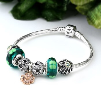 1254-PANDORA Lucky in Love Charm Bracelet