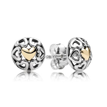 PANDORA My One True Love with 14K Stud Earrings-347051