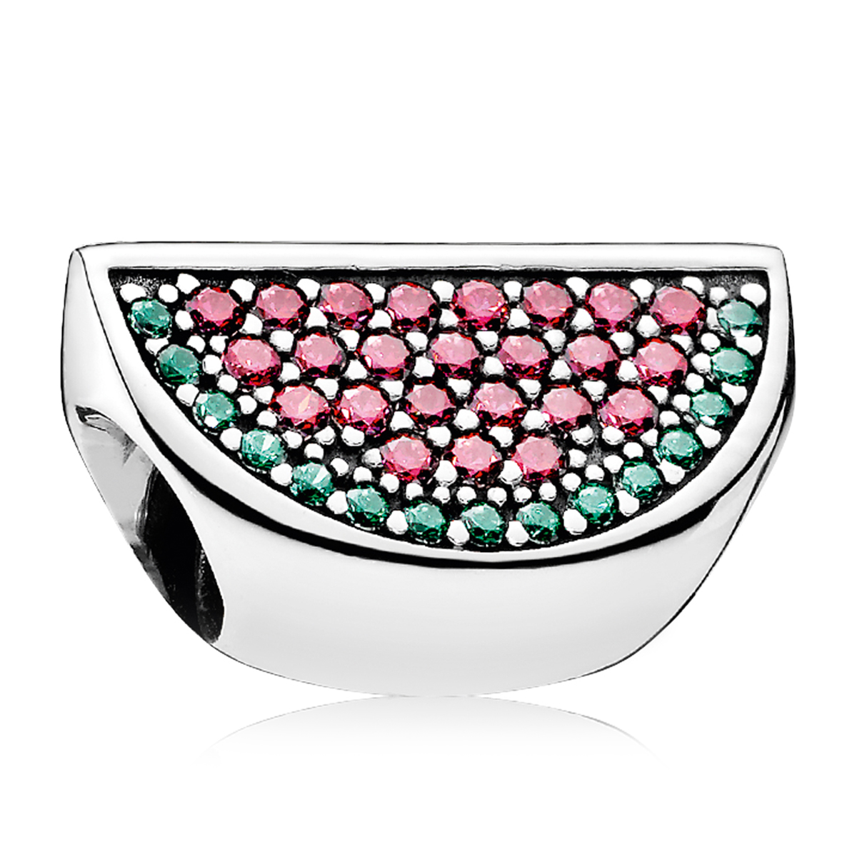 PANDORA Pavé Watermelon with Red and Green CZ Charm