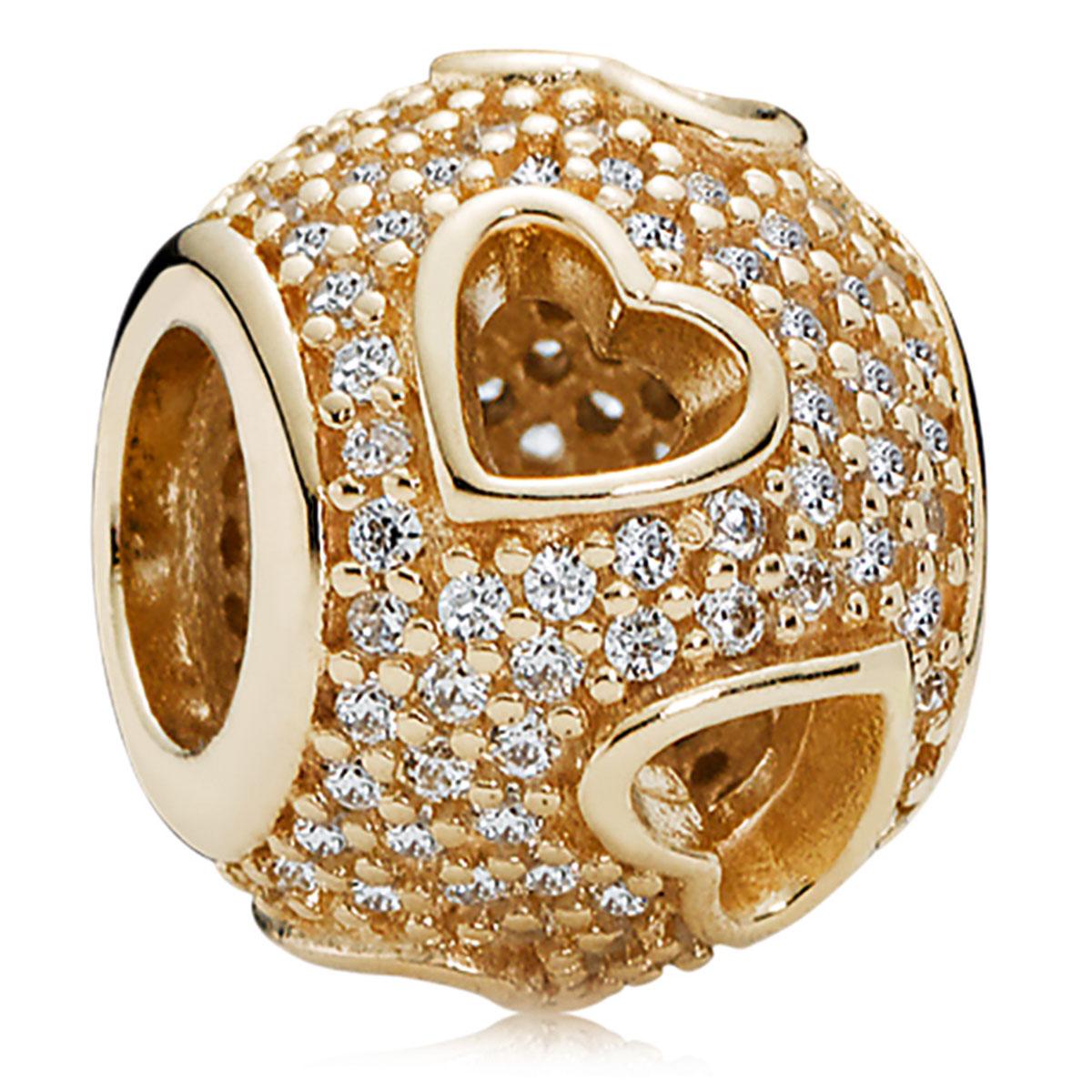 pandora charm gold