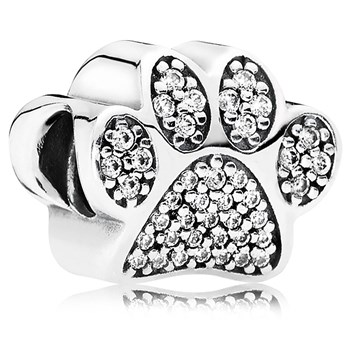 PANDORA Paw Prints with Clear CZ Charm-802-3038