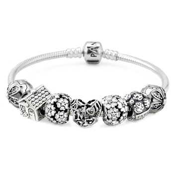 1266-PANDORA A Mother's Love Charm Bracelet