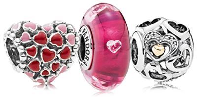 PANDORA Valentine's Day Charms and Jewelry