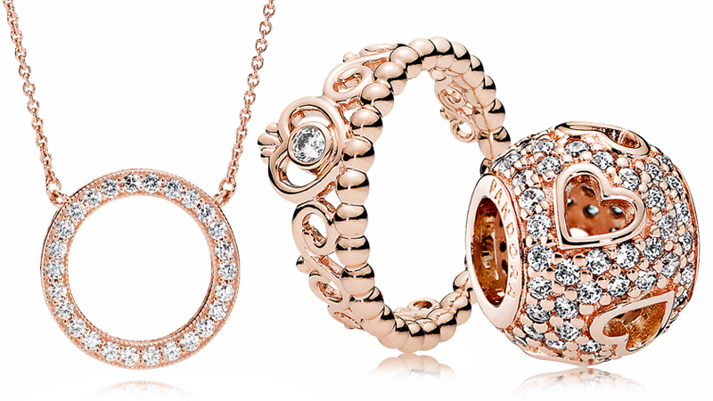 PANDORA Rose Gold Charms and Jewelry