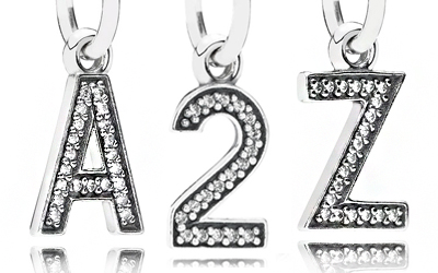 PANDORA Letter & Number Charms