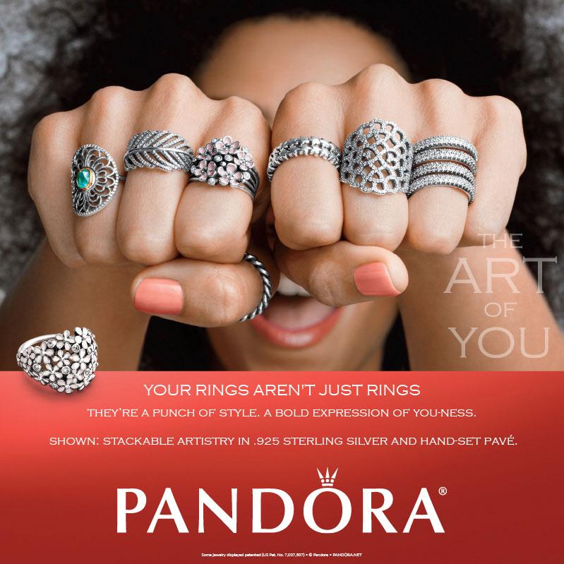 Pandora Darling Daisy White Enamel Ring