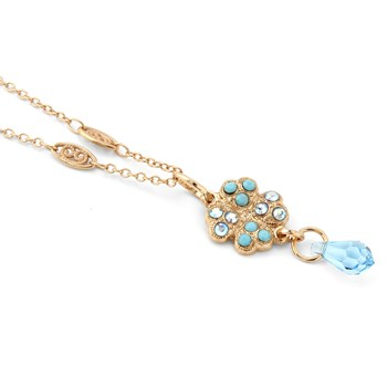 347887-Mariana Sparkling Blue Clover Necklace