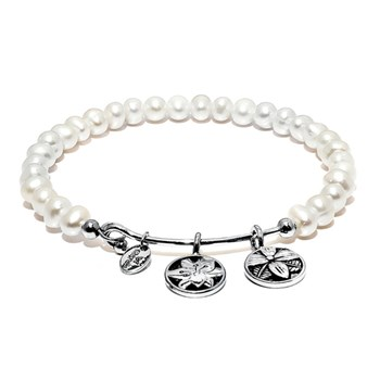 Chrysalis White Pearl BLOSSOM Bangle 345092 RETIRED ONLY 2 LEFT!