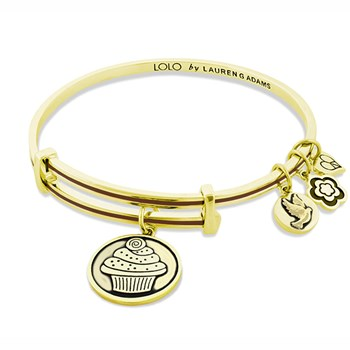 LOLO Cappuccino Cupcake Gold Bangle