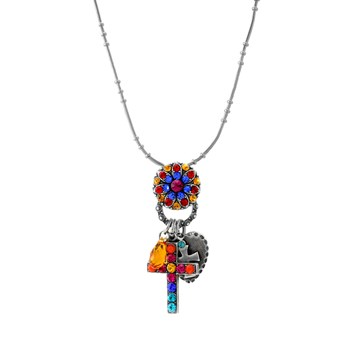 347919-Mariana Vibrant Multi-Color Cross Necklace