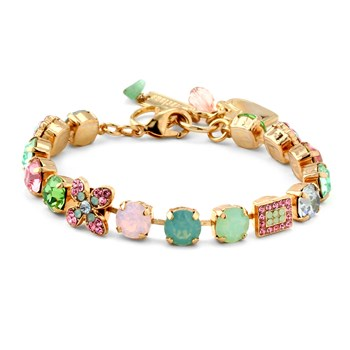 655-02831-Mariana Pink & Green Accent Bracelet