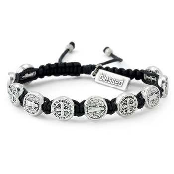 My Saint My Hero Black & Silver Blessing Bracelet
