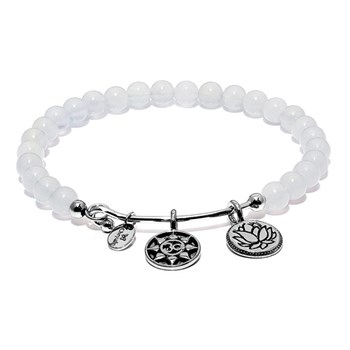 Chrysalis Chalcedony Mantra Bangle-345084 RETIRED