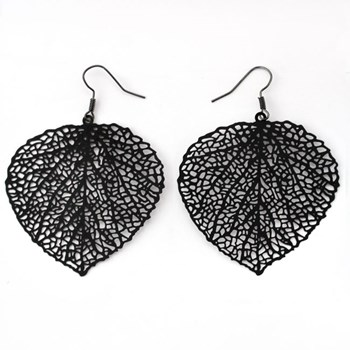 333513-Small Black Leaf Filigree