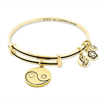 Lauren G Adams LOLO Yin Yang Gold Black Bangle