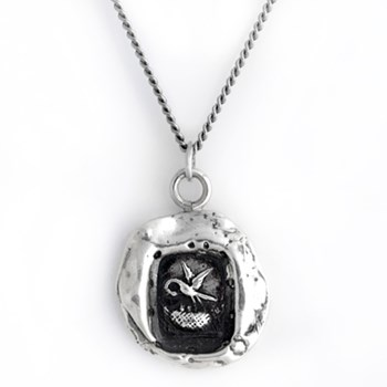Pyrrha Stork Talisman Necklace