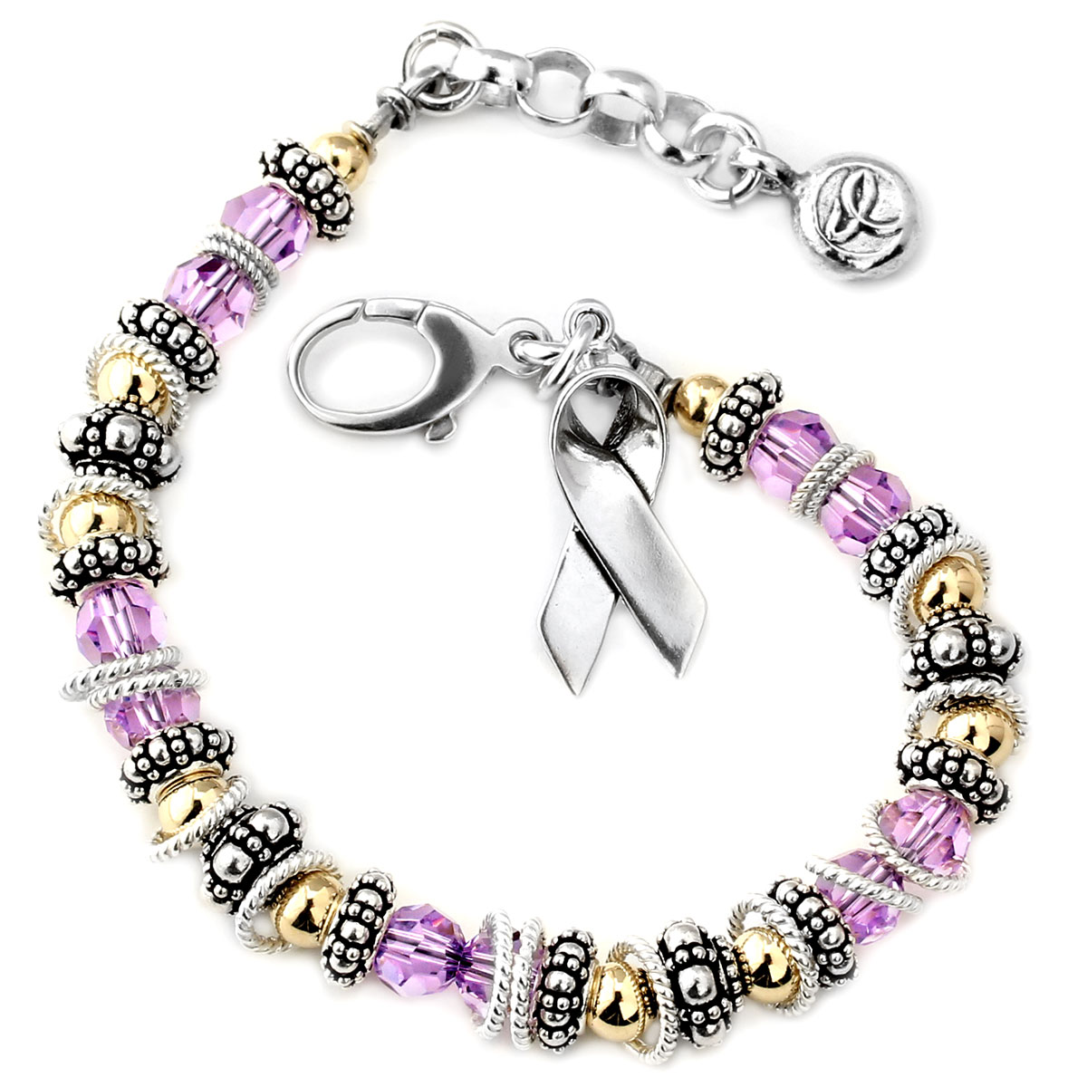 awareness alzheimers support bracelet cancer cystic testicular purple pin ribon