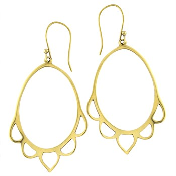 Roulette 18 Petal Hoop Earrings 347707