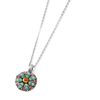 348793-Mariana Pink and Green Angel Necklace