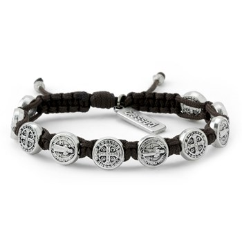 My Saint My Hero Brown & Silver Blessing Bracelet