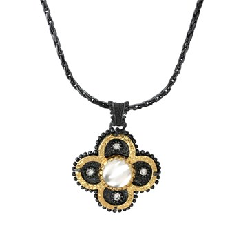 337736-Sara Blaine Small Clover Necklace Pendant
