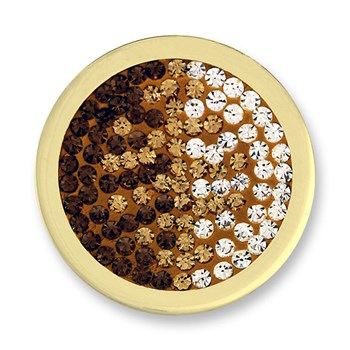 Mi Moneda Diamond Disc Brown CZ Medium Disc ONLY 2 LEFT!