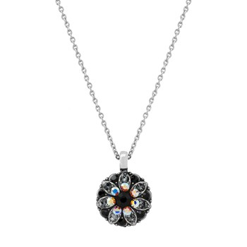 348820-Mariana Black and Iridescent Angel Necklace